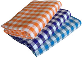 Set Of 3 Aanand Homes Cotton Geometric Pattern Bath Towel (io3)