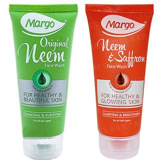 1 Margo Neem Facewash + 1 Saffron Facewash (Set of 2)