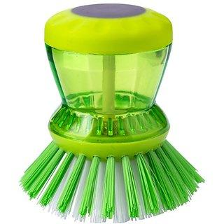 Plastic Cleaning Brush with Liquid Soap Dispenser