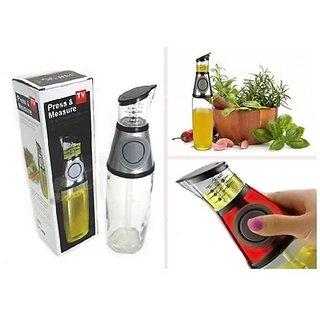 Tuzech Buttoned Oil and Plastic Vinegar Dispenser Cum Measurer