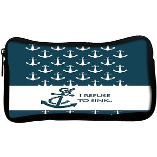 I Refuse to Sink Poly Canvas Multi Utility Travel Pouch