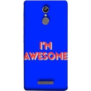 FUSON Designer Back Case Cover For Gionee S6 (I Am Lovely Wow Fact Motivational Inspirational Words)