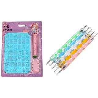 Royalkart Nail Art Stamping Kit XY14 with Dotting Tool