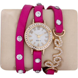 designer pink love wedding watch for girl by denisha