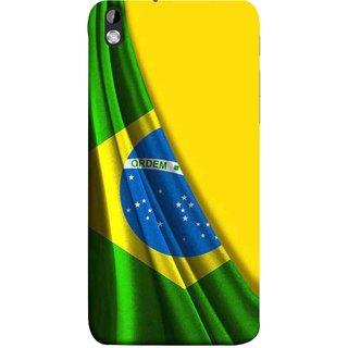 FUSON Designer Back Case Cover For HTC Desire 816 :: HTC Desire 816 Dual Sim :: HTC Desire 816G Dual Sim (Brazilian Flag Olympiad In Brasil Happy Independence)