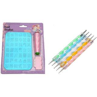 Royalkart Nail Art Stamping Kit XY12 with Dotting Tool