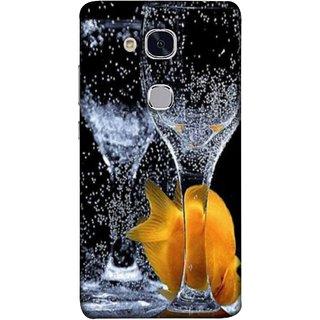 FUSON Designer Back Case Cover For Huawei Honor 5c :: Huawei Honor 7 Lite :: Huawei Honor 5c GT3 (3D Water Splash Illustration Fuzzy Bubbles Unique)