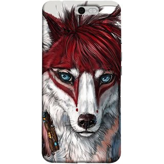 FUSON Designer Back Case Cover For InFocus M812 (Blue Eyes Girl Hairs Hairstyles Wolf Large Ears)