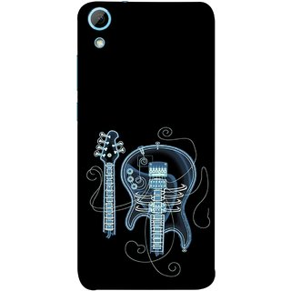 FUSON Designer Back Case Cover For HTC Desire 830 :: HTC Desire 830 Dual Sim (Musical Instrument Vintage Bass Music Lovers Play)