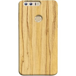 FUSON Designer Back Case Cover For Huawei Honor 8 (Plywood Good Quality Best Mobile Back Cover )
