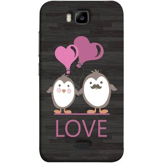 FUSON Designer Back Case Cover For Huawei Honor Bee :: Huawei Honor Bee Y5c (Feeling Loved With Each Other Valentine Day)