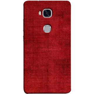 FUSON Designer Back Case Cover For Huawei Honor 5X :: Huawei Honor X5 :: Huawei Honor GR5 (Cloth Design Dark Red Maroon Paper Sheet Bloody)