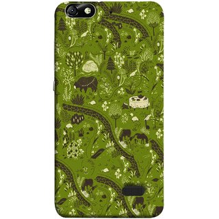 FUSON Designer Back Case Cover For Huawei Honor 4C :: Huawei G Play Mini (Green Grass Cow Mushrooms Leaves Branches )