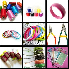 Silk thread Jewellery Making  Kit with instruction book for beginners