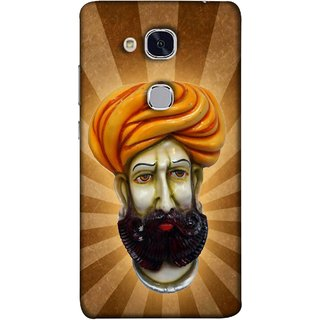 FUSON Designer Back Case Cover For Huawei Honor 5c :: Huawei Honor 7 Lite :: Huawei Honor 5c GT3 (Vector Illustration Turban Headdress And Mustache Isolated)