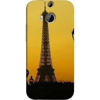 FUSON Designer Back Case Cover For HTC One M8 :: HTC M8 :: HTC One M8 Eye :: HTC One M8 Dual Sim :: HTC One M8s (Bridge Eiffel Tower France Paris Ornate Lamp)