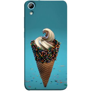 FUSON Designer Back Case Cover For HTC Desire 830 :: HTC Desire 830 Dual Sim (Pinky Frosted Sprinkled Waffle Cone Crispy Coffee Flavour)