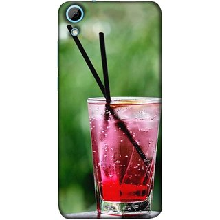 FUSON Designer Back Case Cover For HTC Desire 628 :: HTC Desire 628 Dual Sim  (Glass Full Of Cold Fresh Squeezed Watermelon Juice)