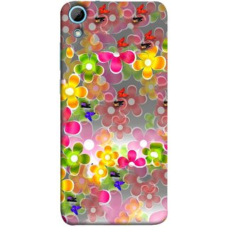 FUSON Designer Back Case Cover For HTC Desire 830 :: HTC Desire 830 Dual Sim (Butterflies Garden Trees Stars Bright Best Wallpaper)
