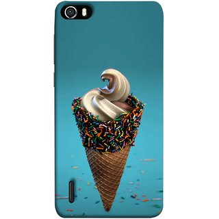 FUSON Designer Back Case Cover For Huawei Honor 6 (Pinky Frosted Sprinkled Waffle Cone Crispy Coffee Flavour)