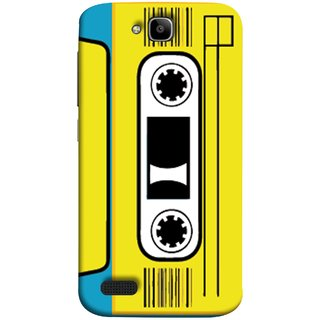 FUSON Designer Back Case Cover For Huawei Honor Holly (Tape Cassette Black Film Screws Old Player)