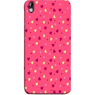 FUSON Designer Back Case Cover For HTC Desire 816 :: HTC Desire 816 Dual Sim :: HTC Desire 816G Dual Sim (Valentine Pink Metallic Cool Peace Sign Symbol Pillow)