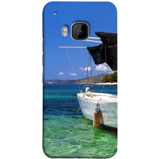 FUSON Designer Back Case Cover For HTC One M9 :: HTC One M9S :: HTC M9 (Boat Floating In The Clear Water Island Enjoy Holidays)