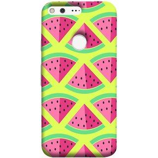 FUSON Designer Back Case Cover For Google Pixel XL (Watermelon Slice Pattern Of Ripe Handdrawing )
