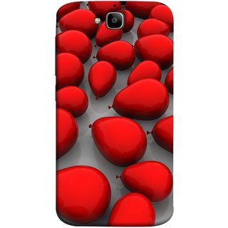 FUSON Designer Back Case Cover For Huawei Honor Holly 2 Plus :: Huawei Honor 2 Plus (Balloons Red Love Dark Gift Motivational)