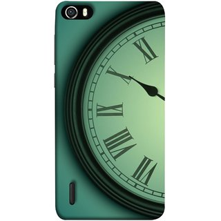 FUSON Designer Back Case Cover For Huawei Honor 6 (Time Lapse Of Antique Clock Old Wooden Vintage Time)