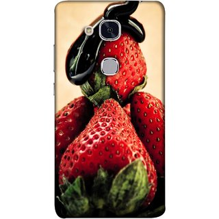 FUSON Designer Back Case Cover For Huawei Honor 5c :: Huawei Honor 7 Lite :: Huawei Honor 5c GT3 (Best Fresh Strawberry Sweet Dish Homemade Recipes)