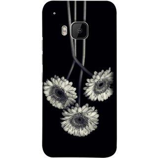 FUSON Designer Back Case Cover For HTC One M9 :: HTC One M9S :: HTC M9 (Fabric Prints Paperart Valentine Lovers Artwork Design)
