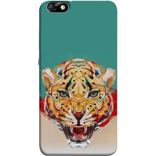 FUSON Designer Back Case Cover For Huawei Honor 4X :: Huawei Glory Play 4X (Multicolour Tigers Leopard Perfect Look King Night Tree)
