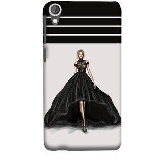 FUSON Designer Back Case Cover For HTC Desire 825 (On Stage High Heel Cat Walk Black Dress )