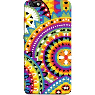 FUSON Designer Back Case Cover For Huawei Honor 4X :: Huawei Glory Play 4X (Best Rangoli Patterns Treditional Photo Wallpapers )
