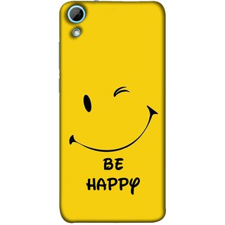 FUSON Designer Back Case Cover For HTC Desire 628 :: HTC Desire 628 Dual Sim  (Yellow Background Cute Smiling Smiley Big Smile)