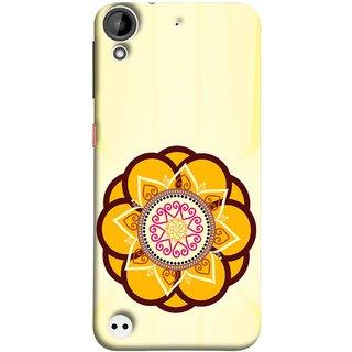 FUSON Designer Back Case Cover For HTC Desire 530 (Best Rangoli Patterns Treditional Photo Wallpapers )