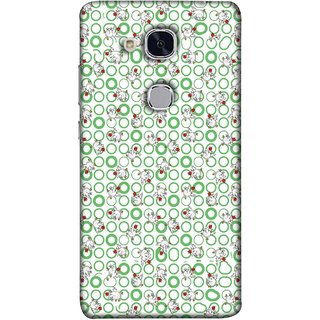 FUSON Designer Back Case Cover For Huawei Honor 5c :: Huawei Honor 7 Lite :: Huawei Honor 5c GT3 (Small Green Circles On White Bottom Color Printed On Cotton)