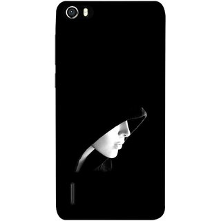 FUSON Designer Back Case Cover For Huawei Honor 6 (Lover Girly Lady Women Fashion Female With Burkha )
