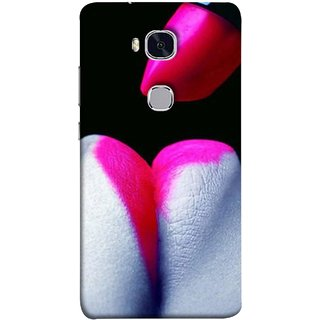 FUSON Designer Back Case Cover For Huawei Honor 5X :: Huawei Honor X5 :: Huawei Honor GR5 (Red Is Great For Some One Paris Candy)