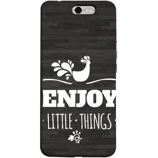FUSON Designer Back Case Cover For InFocus M812 (Nice Beautiful Peacock Design With Texts In White)