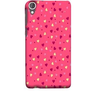 FUSON Designer Back Case Cover For HTC Desire 825 (Valentine Pink Metallic Cool Peace Sign Symbol Pillow)