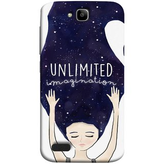 FUSON Designer Back Case Cover For Huawei Honor Holly (Girls With Long Hairs See Universe Milky Way Stars )