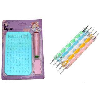 Royalkart Nail Art Stamping Kit XY10 with Dotting Tool