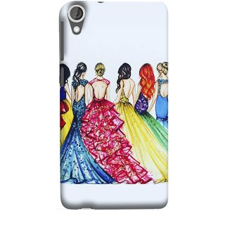 FUSON Designer Back Case Cover For HTC Desire 825 (Backless Prom Dress Gowns Dolls Curly Hairs Long)