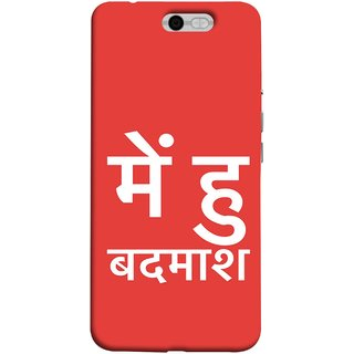 FUSON Designer Back Case Cover For InFocus M812 (I Am Bad And Don Hindi English India Mumbai)