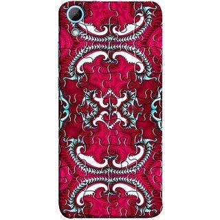 FUSON Designer Back Case Cover For HTC Desire 830 :: HTC Desire 830 Dual Sim (Best Wallpaper Red Dark Shade Table Design Artwork)