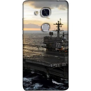FUSON Designer Back Case Cover For Huawei Honor 5c :: Huawei Honor 7 Lite :: Huawei Honor 5c GT3 (Indian Submarine Shoots Ship With Missile Training )