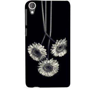 FUSON Designer Back Case Cover For HTC Desire 825 (Fabric Prints Paperart Valentine Lovers Artwork Design)