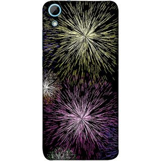 FUSON Designer Back Case Cover For HTC Desire 628 :: HTC Desire 628 Dual Sim  (Dark Night Fireworks Diwali Dipawali Flowers )
